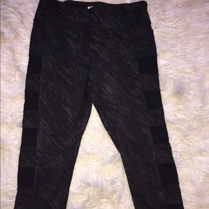 Forever 21 activewear cropped printed leggings